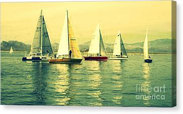 Sailing Day Regatta 2 Canvas Print by Julie Lueders