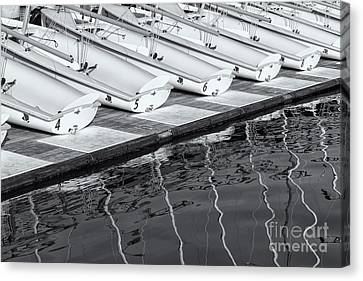 Sailing Dinghies And Reflections II Canvas Print by Clarence Holmes
