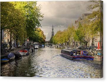 Sailing In Amsterdam Canvas Print