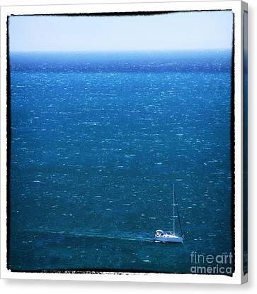 Sailing In Portugal Canvas Print by John Rizzuto