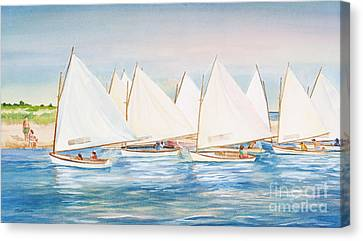 Nantucket Canvas Print - Sailing In The Summertime II by Michelle Wiarda-Constantine