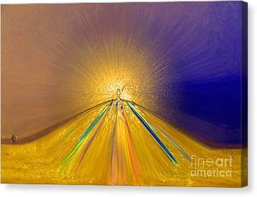 Surrealistic Canvas Print - Sailing Into Paradise by Cindy Lee Longhini