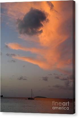 Sundown Over Trunk Bay Canvas Print