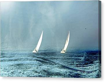 Sailing Into The Unknown Canvas Print