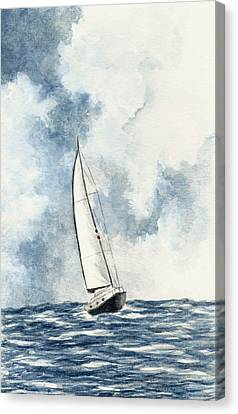 Sailing Canvas Print by Michael Vigliotti
