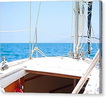 Sailing On A Fine Sunny Day Canvas Print by Artist and Photographer Laura Wrede