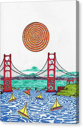 Sailing On San Francisco Bay Canvas Print by Michael Friend
