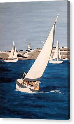 Sailing On San Francisco Bay Canvas Print by Vinita C