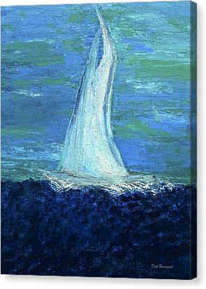 Sailing On The Blue Canvas Print