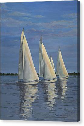 Sailing On The Chesapeake Canvas Print by Edward Williams