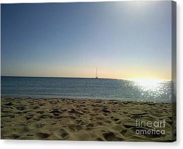 Canvas Print featuring the photograph Sailing by Ramona Matei