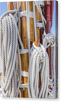 Canvas Print featuring the photograph Sailing Rope 4 by Leigh Anne Meeks