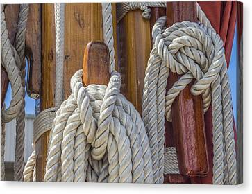Canvas Print featuring the photograph Sailing Rope 5 by Leigh Anne Meeks
