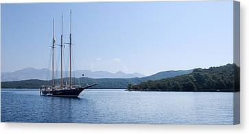 Sailing Ship In The Adriatic Islands Canvas Print