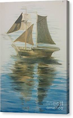 Sailing Ship Canvas Print by Isabella F Abbie Shores FRSA