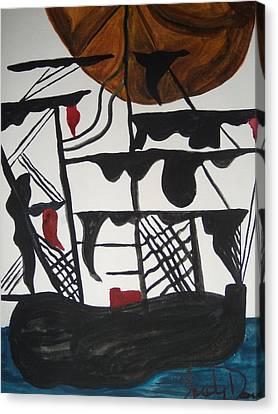 Sailing Ship Canvas Print by Judy Dow