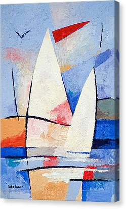 Sailing Signs Canvas Print by Lutz Baar