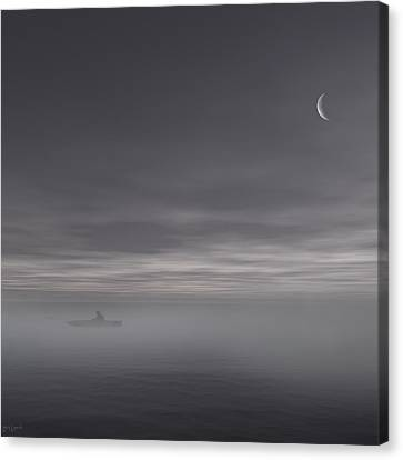 Row Boat Canvas Print - Sailing Solitude by Lourry Legarde