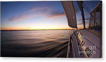 Sailing Sunset Beneteau 49 Sailboat Canvas Print by Dustin K Ryan