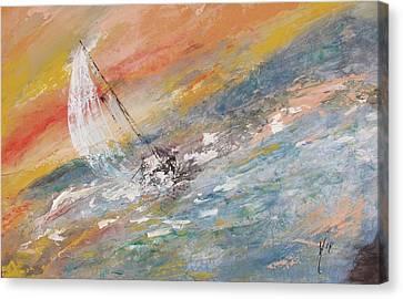 Sailing The Horizon  Canvas Print