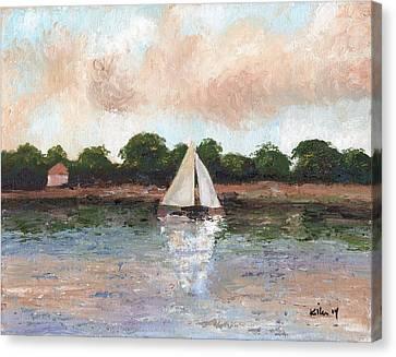 Sailing The Lagoon Canvas Print by William Killen