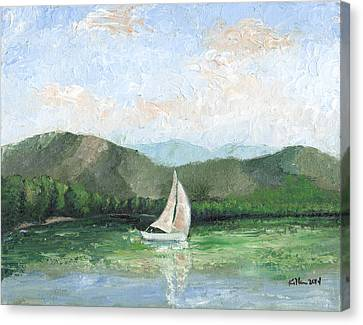 Sailing The Lake 1 Canvas Print by William Killen