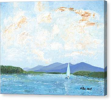 Sailing The Lake 2 Canvas Print by William Killen