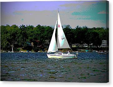 Sailing Canvas Print by Thomas Fouch