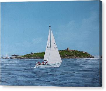 Sailing Through Dalkey Sound Canvas Print