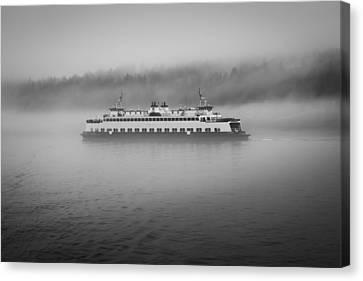 Sailing Through The Fog Canvas Print