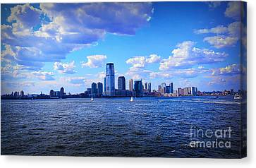 New York New York Com Canvas Print - Sailing To Shore by Terry Wallace