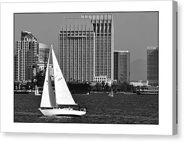 Canvas Print featuring the digital art Sailing To Work by Kirt Tisdale