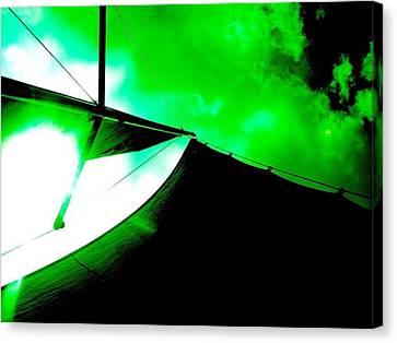 Sailing Under Alien Skies Canvas Print