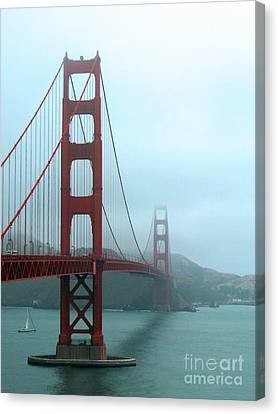 Sailing Under The Golden Gate Bridge Canvas Print