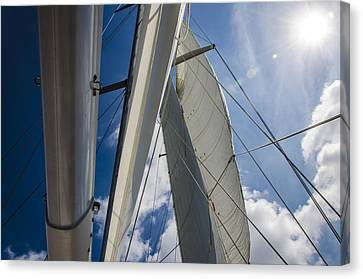 Sailing's Perfect Breeze  Canvas Print