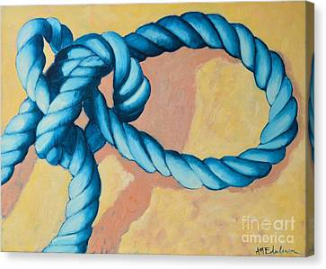 Lightning Decorations Canvas Print - Sailor Knot 4 - Bowline Knot by Ana Maria Edulescu