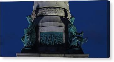 Sailors And Soldiers Monument By Night Canvas Print by Stephen Melcher