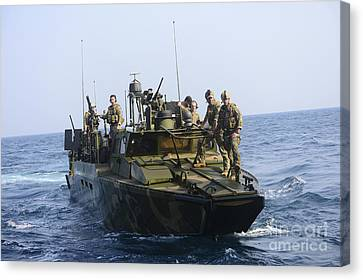 Sailors Conduct Patrol Operations Canvas Print by Stocktrek Images