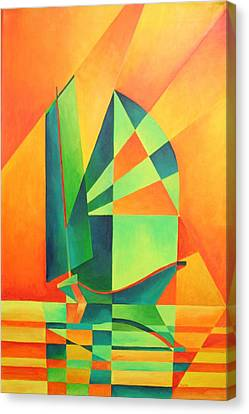 Sails At Sunrise Canvas Print by Tracey Harrington-Simpson