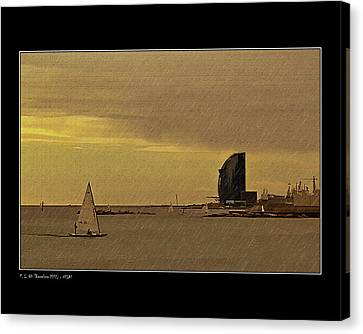 Canvas Print featuring the photograph Sails by Pedro L Gili