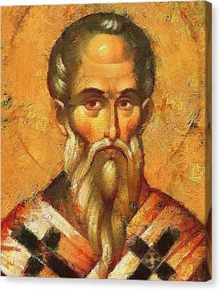 Saint Alexander Of Konstantinopol Icon Canvas Print
