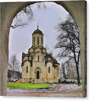 Saint Andronic Monastery In Moscow 3 Canvas Print by Yury Malkov