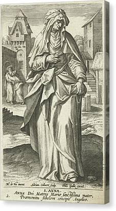 Saint Anna, Adriaen Collaert, Philips Galle Canvas Print by Adriaen Collaert And Philips Galle And Cornelis Kiliaan