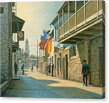 Saint Augustine Street   Canvas Print by Paul Krapf