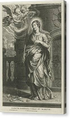 Saint Barbara As Martyr Canvas Print by Schelte Adamsz. Bolswert