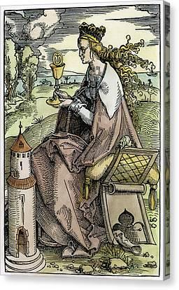 Saint Barbara (c200 Canvas Print by Granger