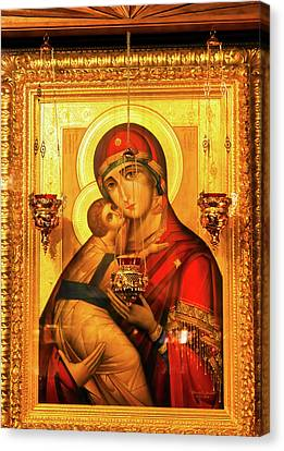 St Barbara Canvas Print - Saint Barbara, Saint Michael Cathedral by William Perry