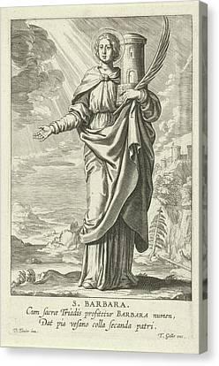 Saint Barbara, Theodoor Galle Canvas Print