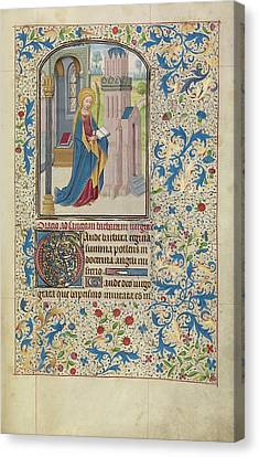 Saint Barbara Willem Vrelant, Flemish, Died 1481 Canvas Print