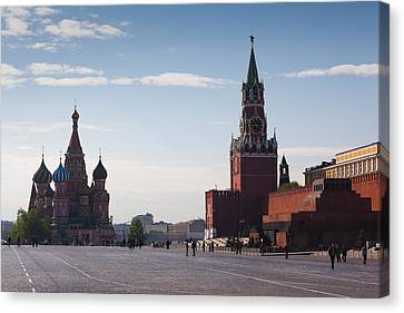 Saint Basils Cathedral And Kremlin Canvas Print by Panoramic Images